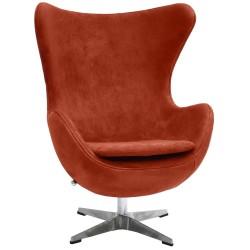 Кресло EGG CHAIR терракотовый, искусственная замша
