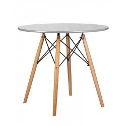 Стол обеденный DOBRIN CHELSEA`80 LMZL-TD108 (ножки светлый бук, столешница светло-серый)